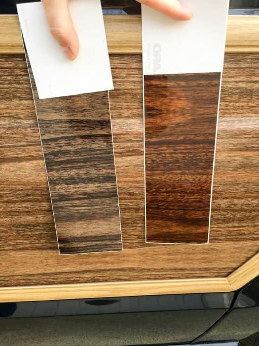 Replacement Jeep wood grain samples from Auto Trim Designs