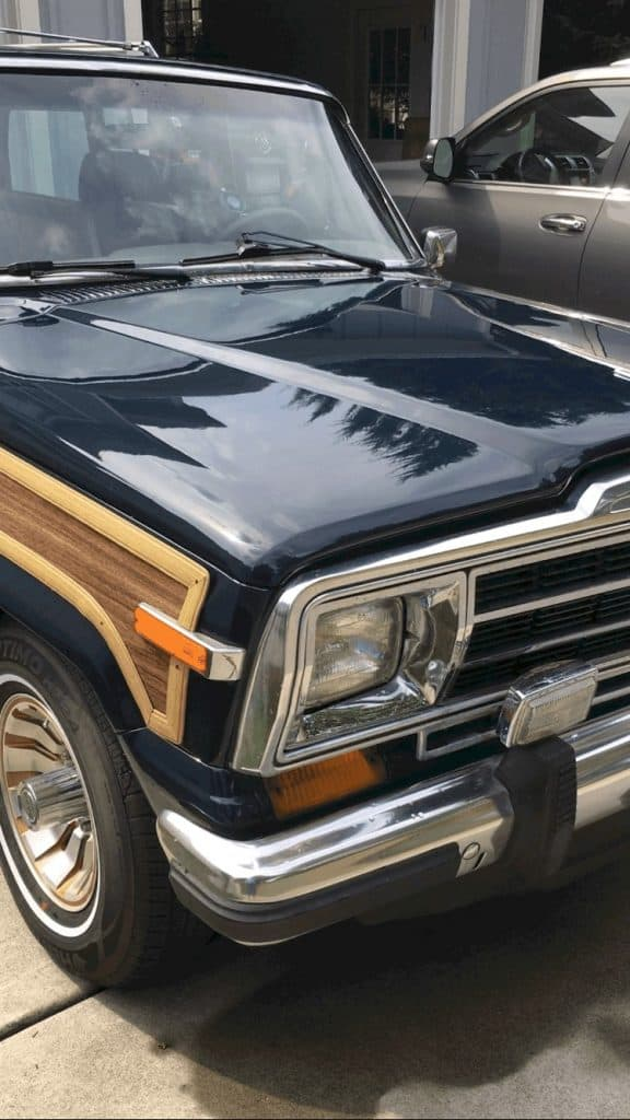 Jeep Grand Wagoneer after clay bar kit from Meguiars
