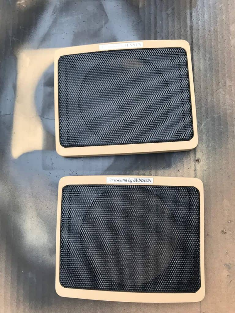 Jeep Grand Wagoneer Speaker Grill Restoration