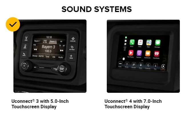 Jeep Gladiator Truck Sport S Model Stereo System