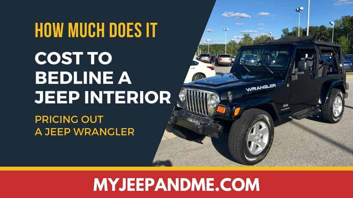 What Does It Cost To Bedline The Inside of A Jeep Wrangler? #Jeep #Wrangler
