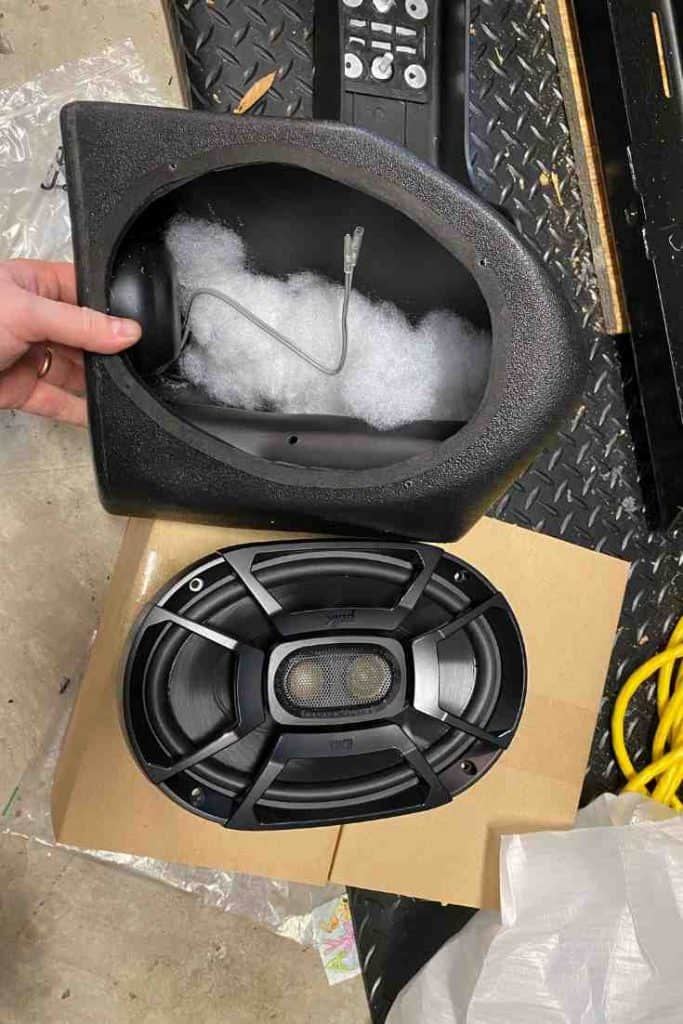 Speaker Wedges for a Jeep Wrangler YJ