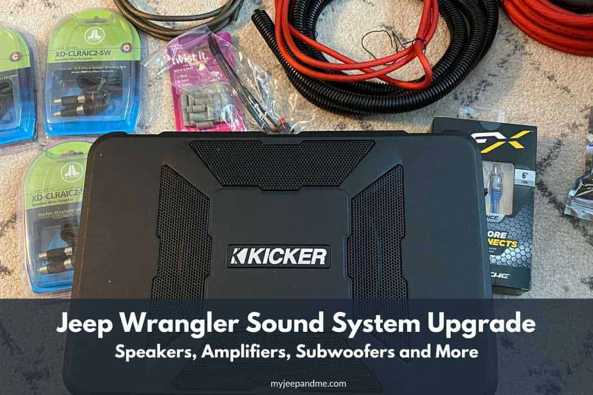 Jeep Wrangler Sound System Upgrade, Jeep speakers, Jeep stereo