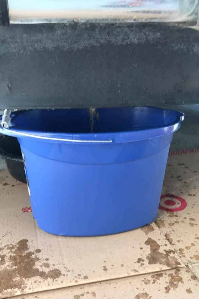 drain radiator coolant into a bucket from a Jeep