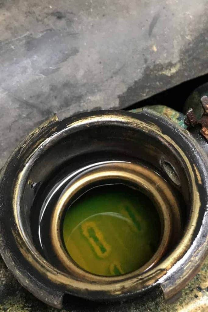 radiator coolant leak in a Jeep