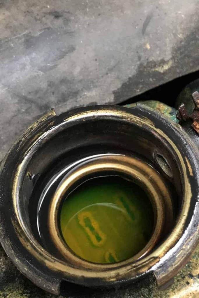 radiator coolant leak in a Jeep