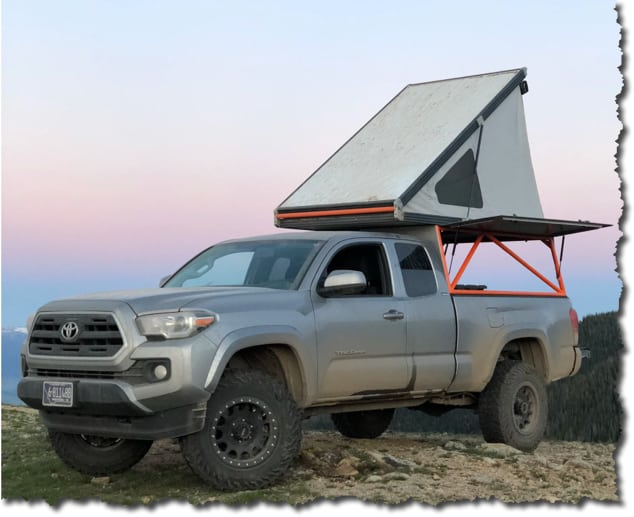 What Truck Camper Fits a Toyota Tacoma? Go Fast Campers for the Toytota Tacoma and roof top tents too. #TOYOTA #taco #tacoma