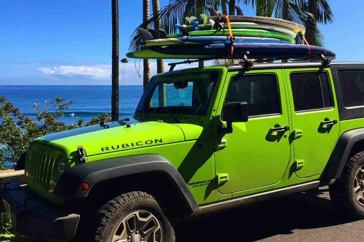 How To Carry Surfboards In a Jeep Wrangler #Jeep #Wrangler #Surfing #beach