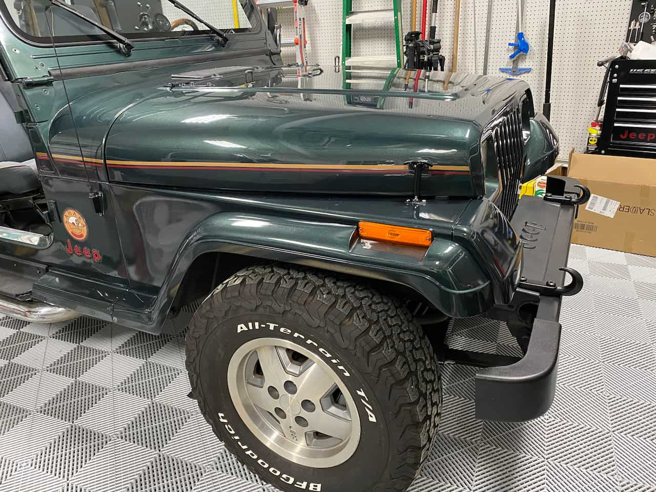 factory color matched Jeep fender flares