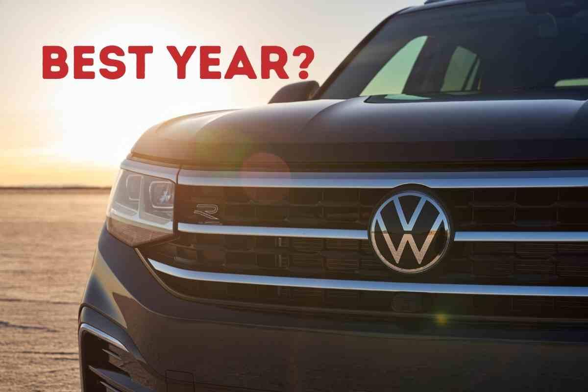 Best Years for The Volkswagen Atlas